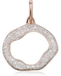 Monica Vinader - Riva Diamond Circle Pendant - Lyst