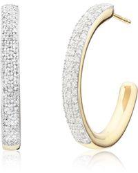 Monica Vinader - Fiji Large Hoop Diamond Earrings - Lyst