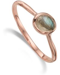 Monica Vinader | Siren Small Stacking Ring | Lyst