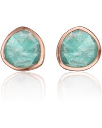 Monica Vinader - Siren Stud Earrings - Lyst