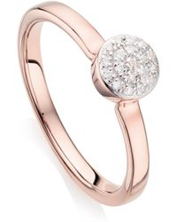 Monica Vinader - Fiji Mini Button Stacking Ring - Lyst