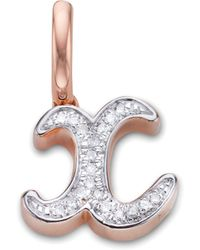 Monica Vinader - Alphabet X Diamond Pendant Charm - Lyst