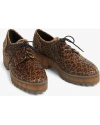 Monki - Chunky Heel Derby Shoes - Lyst