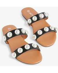 07442e5b884 Kate Spade Sama Imitation Pearl Sandals in White - Lyst