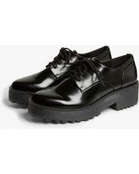 Monki - Flatform Oxford Brogue Shoes - Lyst