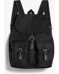 Monki - Flap Pocket Backpack - Lyst