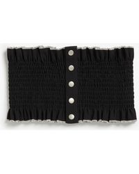 Monki | Wide Ruffled Belt | Lyst