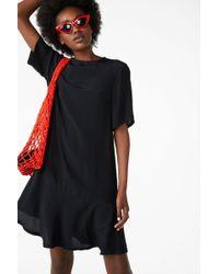 Monki - Flounce T-shirt Dress - Lyst