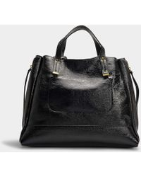 Jérôme Dreyfuss - Georges Large Tote In Ruched Black Lambskin - Lyst