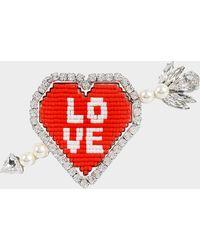 Shourouk - Emojibling Heart Brooch - Lyst