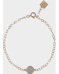 Ginette NY - Mini Diamond Ever Disc Bracelet - Lyst