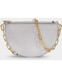 Burberry - The Pecan Bag In Silver Goatskin - Lyst