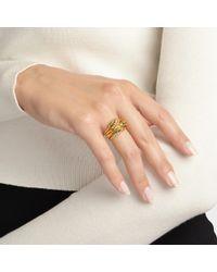 Aurelie Bidermann - Large Wheat Ring aus 18K vergoldetem Messing - Lyst