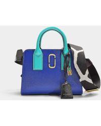 8ba46635ec94 Marc Jacobs - Little Big Shot Bag In Multicolor Blue Polyurethane Coated  Calfskin - Lyst