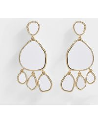 Aurelie Bidermann - Ciottolo Pendant Earrings With Mirror In Gold Plated Brass - Lyst