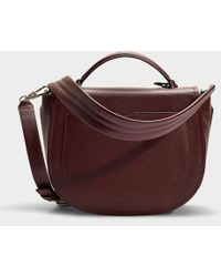 3.1 Phillip Lim - Hudson Top Handle Saddle Bag In Burgundy Calfskin - Lyst