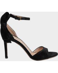 Valentino - Pretty Bow Velver Sandals - Lyst