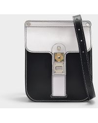 0f570d4a99cb Proenza Schouler - Bag Ps11 Box In Optic White And Black Smooth Leather -  Lyst
