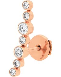 Vanrycke - Sakura Mono Earring 750‰ Gold And Diamonds - Lyst