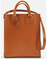 Sophie Hulme - Mini Albion Bag In Tan Cowhide Leather - Lyst