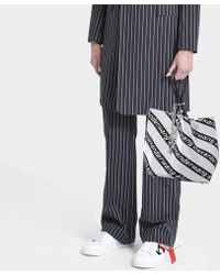 Alexander Wang - Kint Jacquard Logo Soft Striped Canvas Small Tote Bag - Lyst