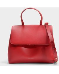 Mansur Gavriel - Mini Lady Bag In Red Calfskin - Lyst