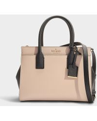 Kate Spade - Small Candace Cameron Street Crossbody Bag In Beige And Black Calfskin - Lyst
