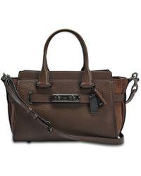 COACH - Swagger 27 Carryall Bag In Khaki Calfskin - Lyst