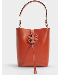 Lyst - Tory Burch Michelle Pebbled Leather Tote in Natural 28287b49da36a