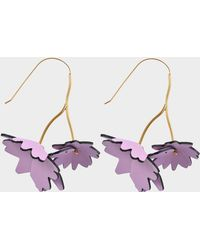 Marni - Leather Flowers Earrings - Lyst