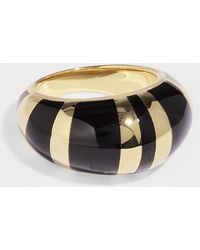 Aurelie Bidermann - Positano Ring In Black Resin And Gold Plated Brass - Lyst