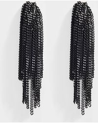 Helene Zubeldia - Palace Clip Earrings With Cascade Chain In Black Aluminum - Lyst