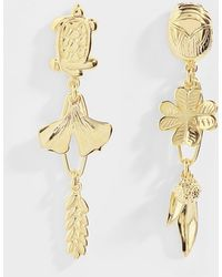 Aurelie Bidermann - Hängende Ohrringe Aurélie aus vergoldetem Messing - Lyst