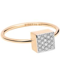 Ginette NY - Baby Diamond Ever Square Ring - Lyst