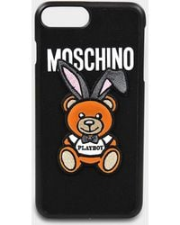 Moschino - Phone Case Iphone 7+ In Black Pvc - Lyst