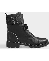 Sam Edelman - Jennifer Boot Black Leather - Lyst