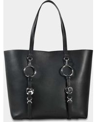 Alexander Wang Ace Tote Bag In Black Cowskin