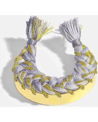 Aurelie Bidermann - Copacabana Bracelet In Denim Brut 18k Gold-plated Brass - Lyst