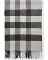 Burberry - The Large Classic Cashmere Scarf In Check Stone - Lyst