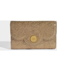 See By Chloé - Polina Wallet In Sandy Brown Metallic Cowhide Leather And Cowhide Leather - Lyst