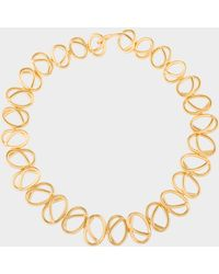 Joanna Laura Constantine - Gold Plated Knot Choker Necklace - Lyst
