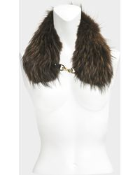 Yves Salomon - Collar In Marmot Fur With Chain - Lyst