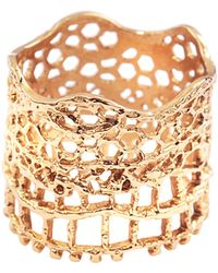 Aurelie Bidermann - Vintage Lace Ring - Lyst