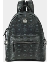 MCM - Stark Small Backpack In Black Coated Canvas - Lyst