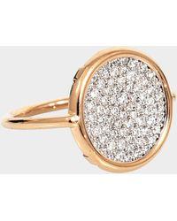 Ginette NY - Diamond 18-karat Rose Gold Disc Ring - Lyst