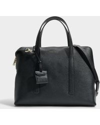BOSS - Taylor Briefcase In Black Grainy Calfskin - Lyst