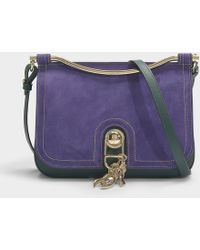 Carven Misti Large Bag In Spinach Calfskin Lyst