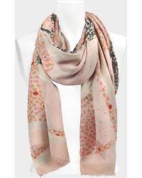Zadig & Voltaire - Maxi Patchwork Scarf In Bebe Modal - Lyst