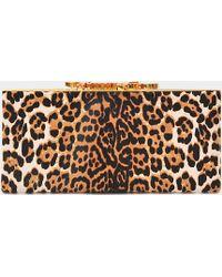 Jimmy Choo - Celeste Leopard-Print Calf Hair Clutch - Lyst