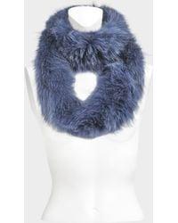 Yves Salomon - Knitted Scarf Fox - Lyst